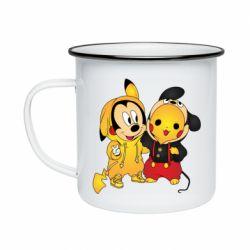 Кружка эмалированная Mickey and Pikachu