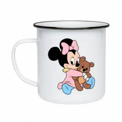 Кружка емальована Minnie And Bear