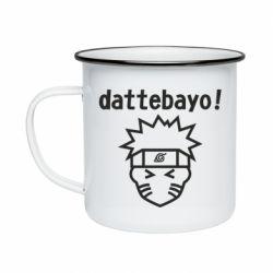 Кружка емальована Naruto dattebayo!