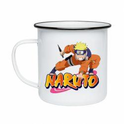 Кружка емальована Naruto with logo