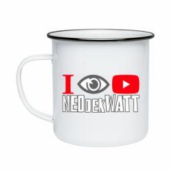 Кружка емальована I Watch NEOdekWATT