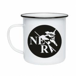Кружка емальована Nerv
