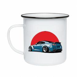 Кружка эмалированная Nissan GR-R Japan