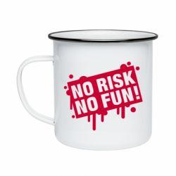 Кружка емальована No Risk No Fun