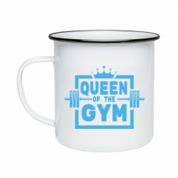 Кружка емальована Queen Of The Gym