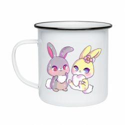 Кружка емальована Rabbits In Love
