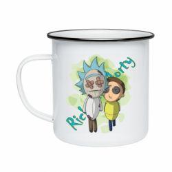Кружка емальована Rick and Morty voodoo doll