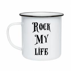 Кружка эмалированная Rock my life