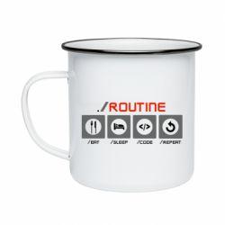 Кружка емальована Routine code