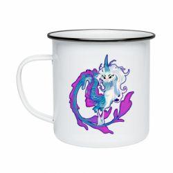 Кружка емальована Sisu Dragon Art
