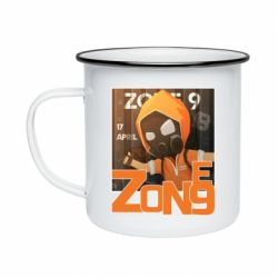 Кружка емальована Standoff Zone 9