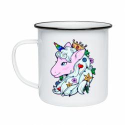 Кружка емальована Unicorn Princess
