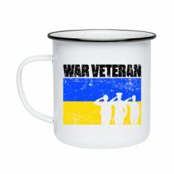 Кружка емальована War veteran