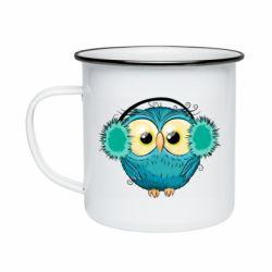 Кружка эмалированная Winter owl