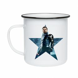 Кружка емальована Winter Soldier Star