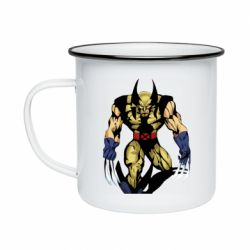 Кружка емальована Wolverine comics