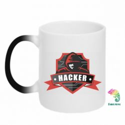 Кружка-хамелеон Anonymous Hacker