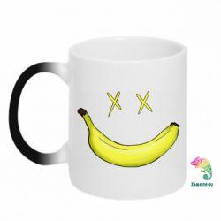 Кружка-хамелеон Banana smile