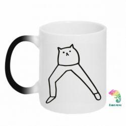 Кружка-хамелеон Cat in pants