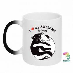 Кружка-хамелеон Cats and love