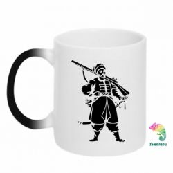 Кружка-хамелеон Cossack with a gun