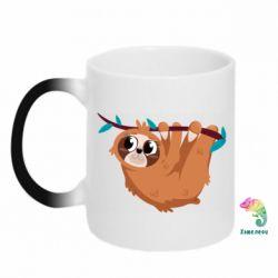 Кружка-хамелеон Cute sloth