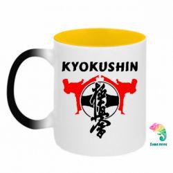 Кружка-хамелеон двокольорова Kyokushin
