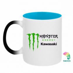 Кружка-хамелеон двокольорова Monster Energy Kawasaki