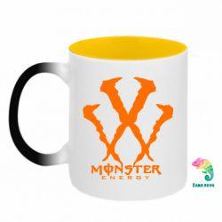 Кружка-хамелеон двокольорова Monster Energy W
