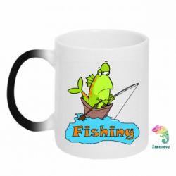 Кружка-хамелеон Fish Fishing