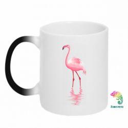 Кружка-хамелеон Фламинго
