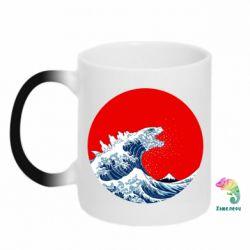 Кружка-хамелеон Godzilla Wave