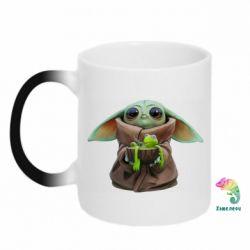 Кружка-хамелеон Grogu and Kermit