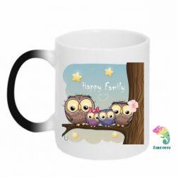 Кружка-хамелеон Happy family