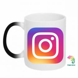 Кружка-хамелеон Instagram Logo Gradient