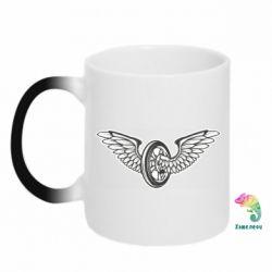 Кружка-хамелеон Колесо та крила