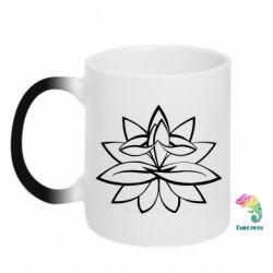 Кружка-хамелеон Lotus yoga