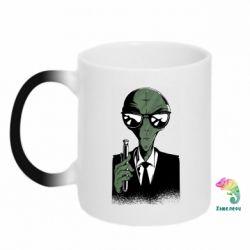 Кружка-хамелеон Люди в черном пародия