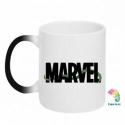 Кружка-хамелеон Marvel logo and vine