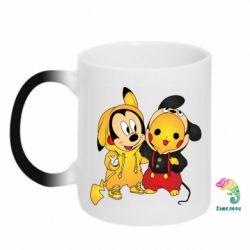 Кружка-хамелеон Mickey and Pikachu