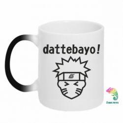 Кружка-хамелеон Naruto dattebayo!