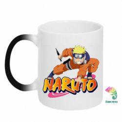Кружка-хамелеон Naruto with logo