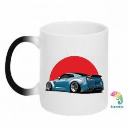 Кружка-хамелеон Nissan GR-R Japan
