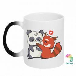 Кружка-хамелеон Panda and fire panda