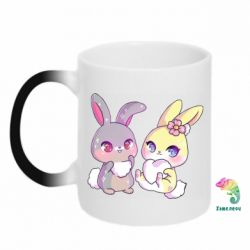 Кружка-хамелеон Rabbits In Love