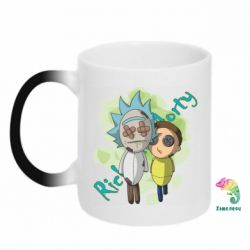 Кружка-хамелеон Rick and Morty voodoo doll