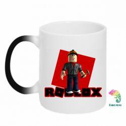 Кружка-хамелеон Roblox Builderman