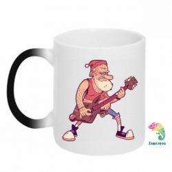 Кружка-хамелеон Rock'n'roll Santa