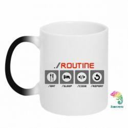 Кружка-хамелеон Routine code