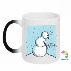 Кружка-хамелеон Snowman. It's Cold!